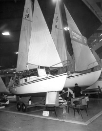 Stebbings stand at 1965 London Boat Show