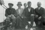 Stebbings family aboard Mayfly (L-R: Tom Ambose, Nellie, Ellen, Harry, Albert Harry)