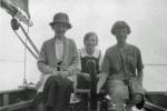 Stebbings family aboard Mayfly (L-R: Nellie, Ellen,?)