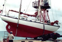 1995 Restive Hauled out, Ascension Island